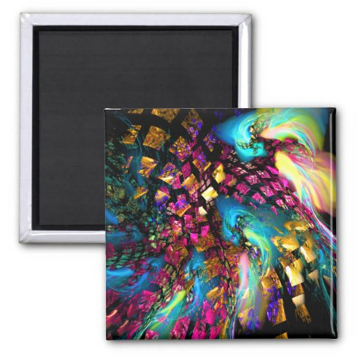 Abstract Art: Pieces Of A Dream Refrigerator Magnets