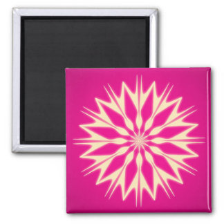 Abstract Art Pink Square Magnet