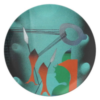 Abstract Art Plate