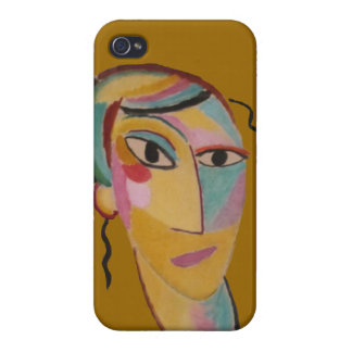 Abstract Art Portrait iPhone 4 Case