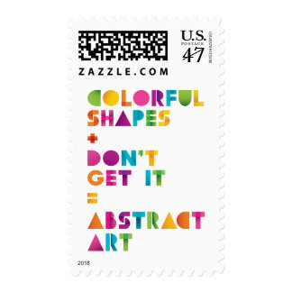 Abstract Art Postage