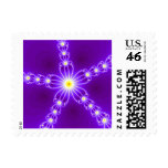 Abstract Art Postage Stamp: Jewels in Purple