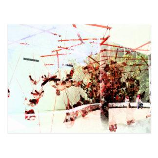 Abstract art postcard