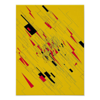 Abstract Art Poster 'Z'