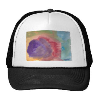 Abstract art print colourful trucker hat