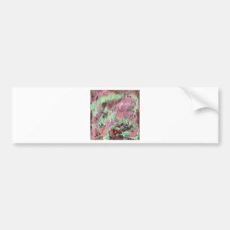 Abstract art print pattern mint and  purple bumper sticker