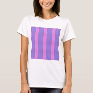 Abstract Art Purple And Pink Stripes T-Shirt