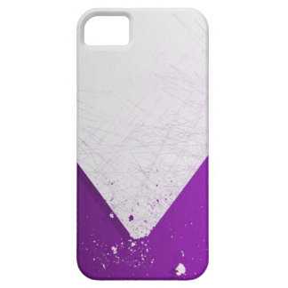 Abstract Art ( Purple and White Zoom Iphone 4 Case
