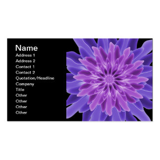 Abstract Art Purple Flower Double-Sided Standard Business Cards (Pack Of 100)