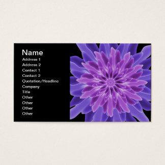 Abstract Art Purple Flower Business Card