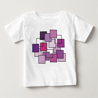Abstract Art Purple Square Baby T-Shirt