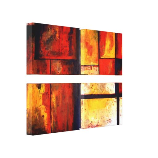 Abstract Art Quad Wrapped Canvas Set Gallery Wrap Canvas