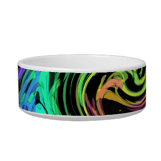 abstract art rabbit feed bowl - soulmated