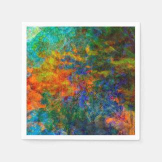Abstract Art Rainbow Colors Napkin