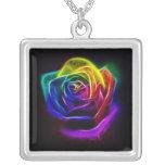 Abstract Art Rainbow Rose Custom Jewelry