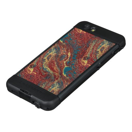 Abstract Art Red Blue and Gold LifeProof NÜÜD iPhone 6s Case