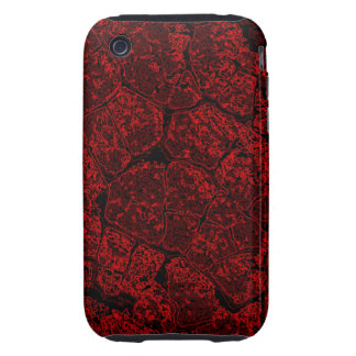 Abstract Art Red Crumble Tough iPhone 3 Case