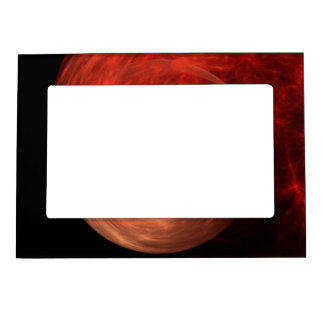 Abstract Art Red Galaxy Magnetic Picture Frames