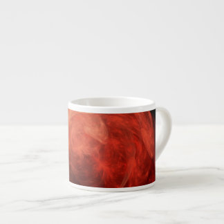Abstract Art Red Galaxy Espresso Mugs