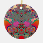 Abstract Art Red Meditation Ornament