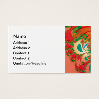 Abstract Art Red Owl Business Card