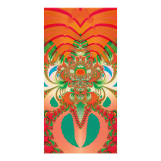 Abstract Art Red Owl Card