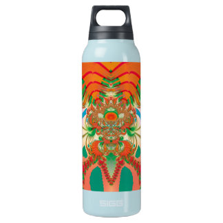 Abstract Art Red Owl Insulated Water Bottle