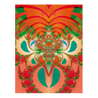 Abstract Art Red Owl Postcard