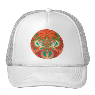 Abstract Art Red Owl Trucker Hat