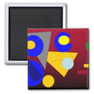 Abstract Art - Red Submission Magnet