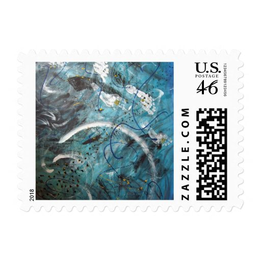 Abstract Art - Remeo Postage Stamp