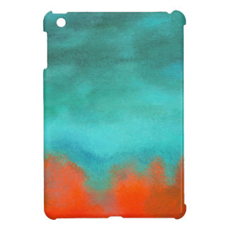 Abstract Art Sky Fire Lava Coral Turquoise Orange Cover For The iPad Mini