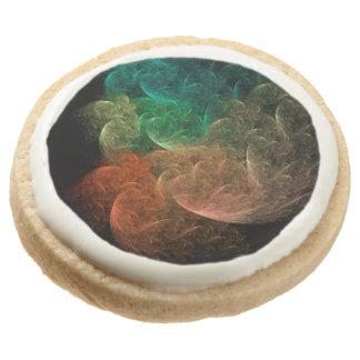 Abstract Art Space Bird Round Premium Shortbread Cookie