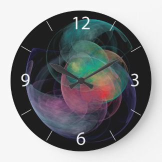 Abstract Art Space Shell Large Clock