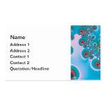 Abstract Art Spring Garden Business Card Template