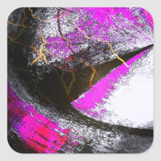 Abstract Art Square Sticker