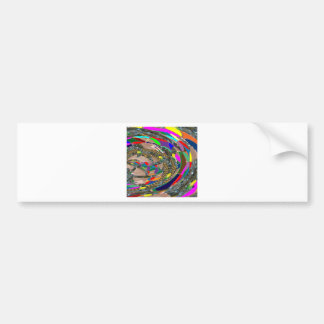 Abstract ART: STADIUM Arena Exhibition Grounds FUN Bumper Stickers