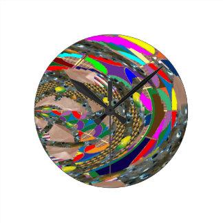 Abstract ART: STADIUM Arena Exhibition Grounds FUN Clock