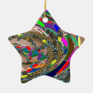 Abstract ART: STADIUM Arena Exhibition Grounds FUN Christmas Tree Ornament