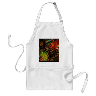 Abstract Art Stained Glass Colorful Gifts Adult Apron