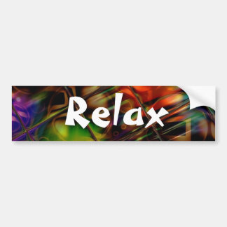 Abstract Art Stained Glass Colorful Gifts Bumper Sticker