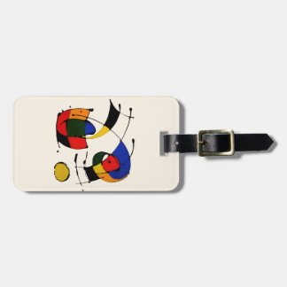 Abstract Art Surrealism in the style of Joan Miro Luggage Tag