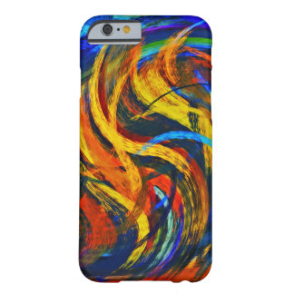 Abstract Art Swirl Colorful Paint Background #11 Barely There iPhone 6 Case
