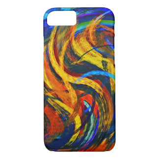 Abstract Art Swirl Colorful Paint Background #11 iPhone 7 Case