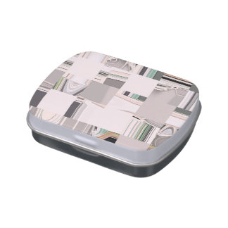 Abstract Art Tiled Jelly Belly Candy Tins