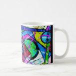 Abstract Art-Title:Juggler-Green Tint Classic White Coffee Mug