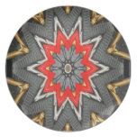ABSTRACT ART TOOLS DINNER PLATE