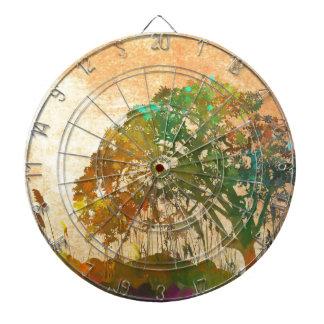 abstract Art Tree Dart Boards
