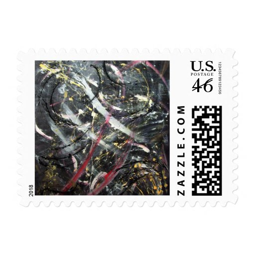 Abstract Art - Ultionis Postage Stamp