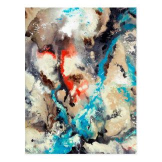 Abstract Art - Upstream Postcard